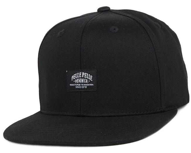 Core Label Black Snapback - Pelle Pelle