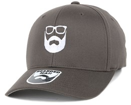 Logo Dark Grey Flexfit - Bearded Man