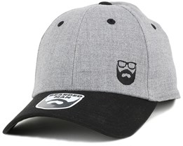 Side Logo Grey/Black Flexfit - Bearded Man