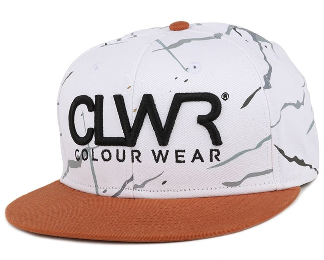 White Marble Snapback - Colour Wear
