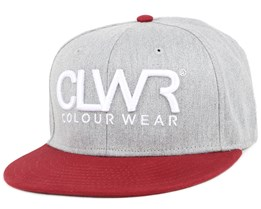 Grey Melange Snapback - Colour Wear