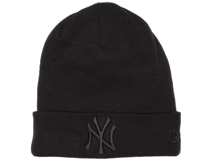 NY Yankees Basic Black/Black Beanie - New Era