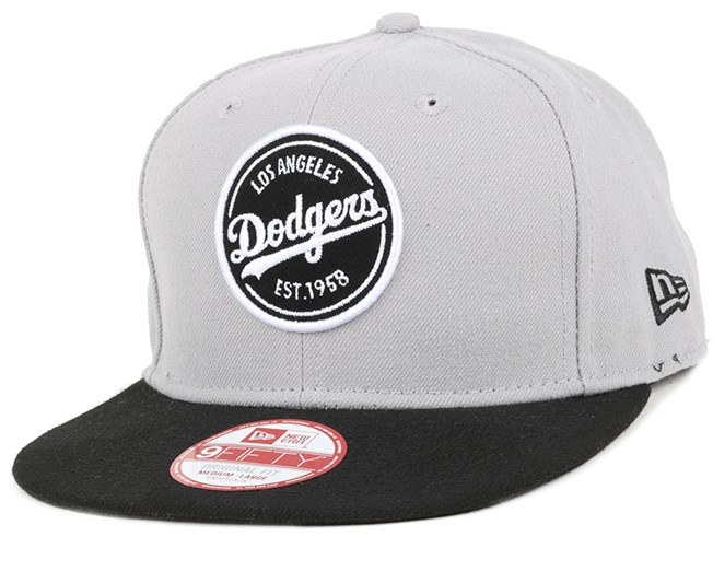 LA Dodgers Emblem Patch Graphite/Black 9Fifty Snapback - New Era