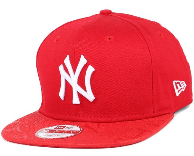 NY Yankees Poly Core Scarlet 9Fifty Snapback - New Era