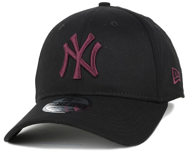 NY Yankees Black Base Black/Maroon 39Thirty Flexfit - New Era