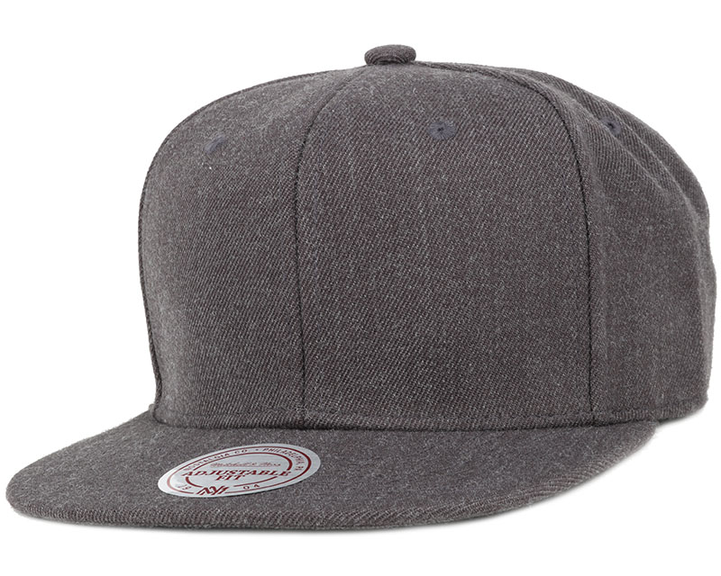 blank charcoal snapback mitchell ness caps hatstore. Black Bedroom Furniture Sets. Home Design Ideas