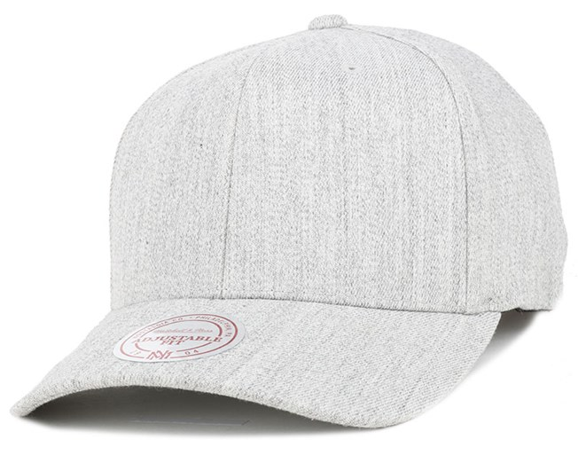 Solid Colour Low Pro Stretch Grey Adjustable - Mitchell & Ness