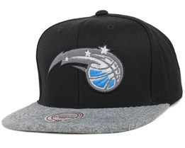 Orlando Magic Black/Grey Fuzz 2 Tone Snapback - Mitchell & Ness