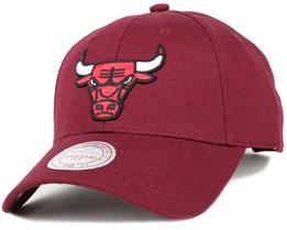 Chicago Bulls Low Pro Burgundy Adjustable - Mitchell & Ness