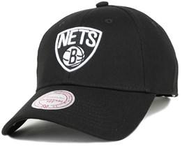 Brooklyn Nets Low Pro Black Adjustable - Mitchell & Ness