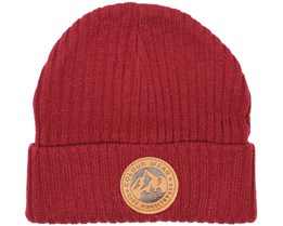Badge Burgundy Beanie - Colour Wear