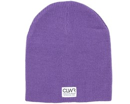 Rib Ultra Violet Beanie - Colour Wear