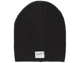 Rib Black Beanie - Colour Wear