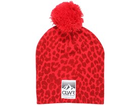 Leo Red Beanie - Colour Wear