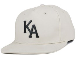 Letterman Raven Cream Snapback - King Apparel