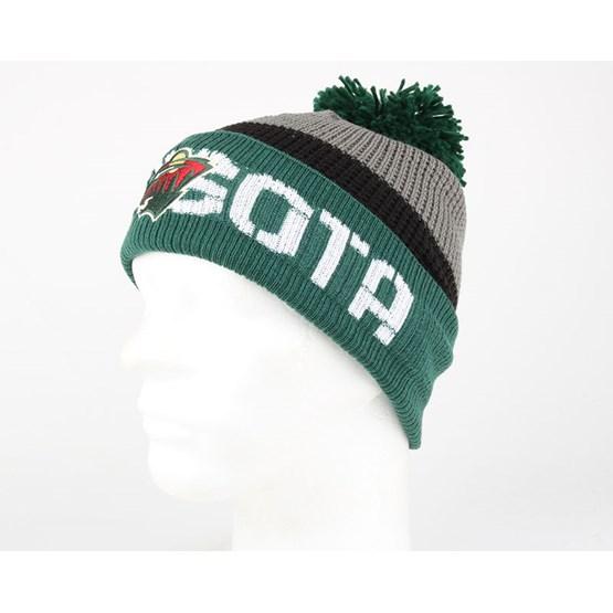 a1db12bb551 purchase minnesota wild team pom knit reebok beanies hatstore 1d424 9f19e