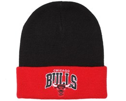 Chicago Bulls Arched Black/Red Beanie - Mitchell & Ness