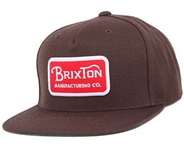Grade Dark Brown Snapback - Brixton