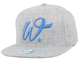 Fulton Street Light Grey/Blue Snapback - State Of Wow
