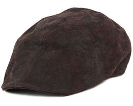 Texas Pig Skin Brown Flat Cap - Stetson