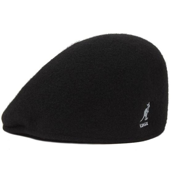 204862e0fd Seamless Wool 507 Black Flat Cap - Kangol
