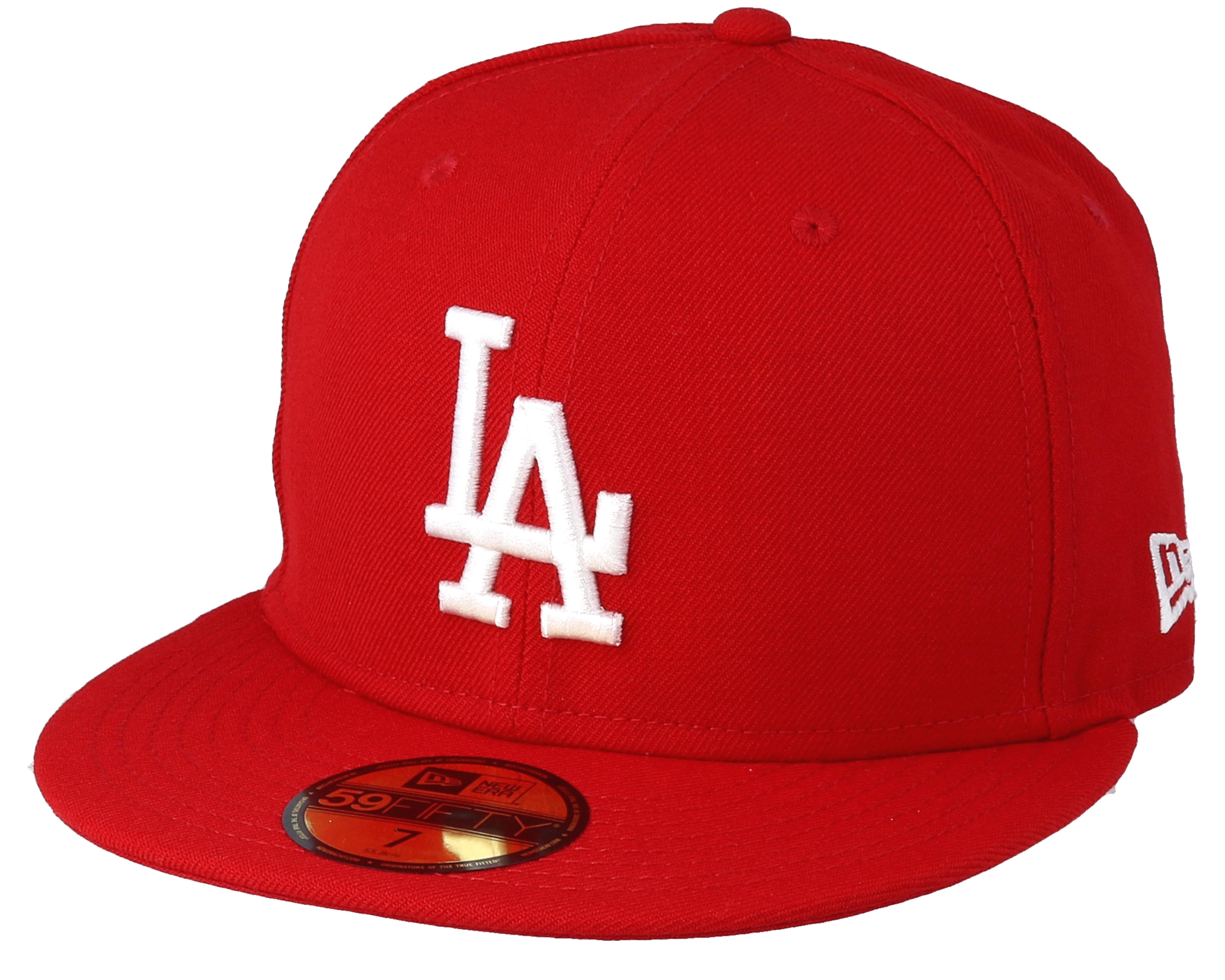 LA Dodgers MLB 59fifty Scarlet - New Era caps  b3677accb48