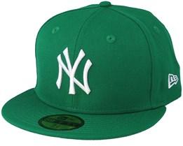 NY Yankees MLB Basic Green/White 59Fifty - New Era