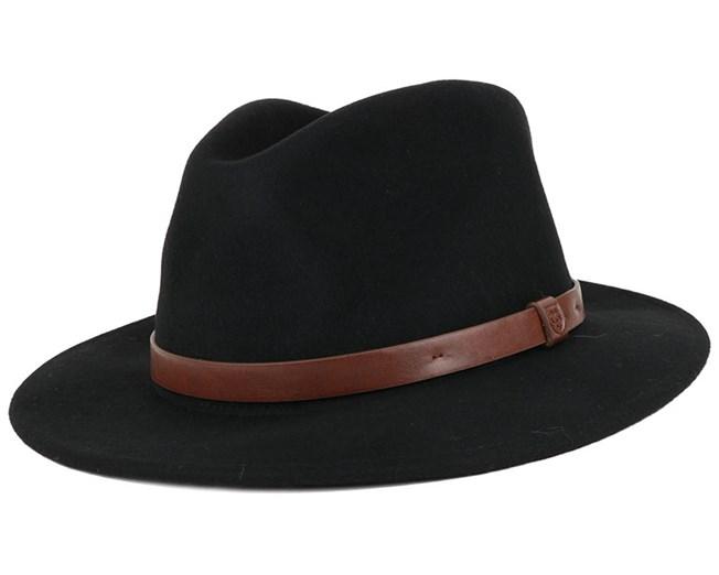 Messer Black Fedora - Brixton Hats