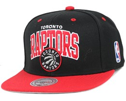 Toronto Raptors Team Arch Black/Red Snapback - Mitchell & Ness