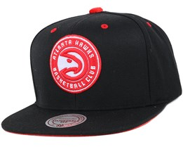 Atlanta Hawks Solid Velour Logo Snapback - Mitchell & Ness