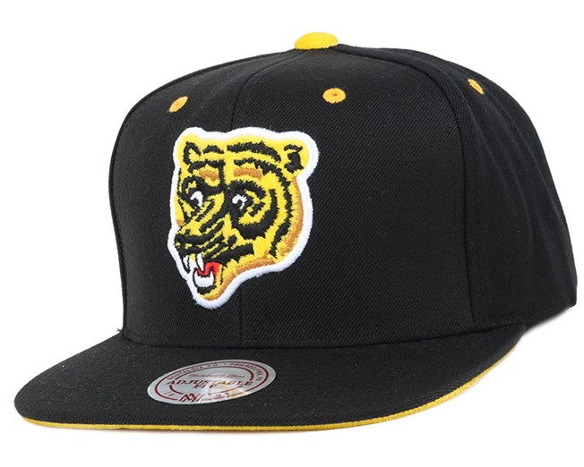 Boston Bruins Solid Velour Logo Snapback - Mitchell & Ness