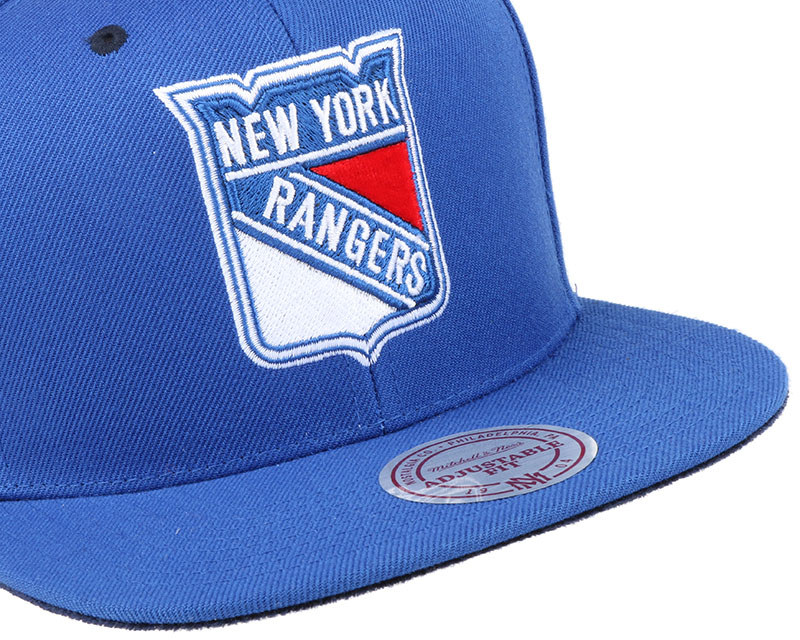 ny rangers solid velour logo snapback mitchell ness casquette. Black Bedroom Furniture Sets. Home Design Ideas