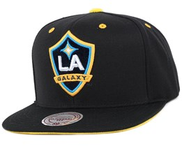 LA Galaxy Solid Velour Logo Snapback - Mitchell & Ness