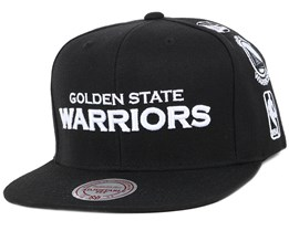 Golden State Warriors Team Logo History Black Snapback - Mitchell & Ness