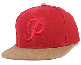 Classic P Canvas Red Snapback - Primitive Apparel