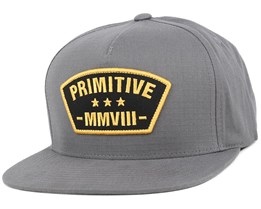 Militia Charcoal Snapback - Primitive Apparel
