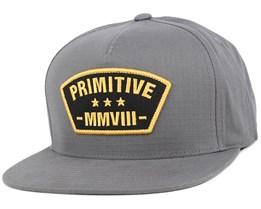 Militia Charcoal Snapback - Primitive Apparel