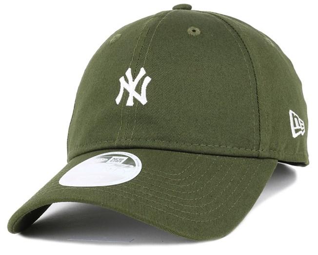 NY Yankees Mini Logo Essential Woman Rifle Green 940 Adjustable - New Era
