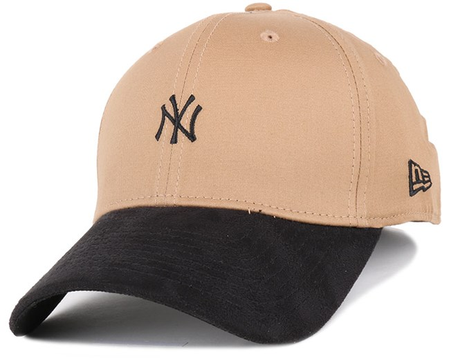 NY Yankees Suede Viz Mini Logo Wheat/Black 39Thirty - New Era