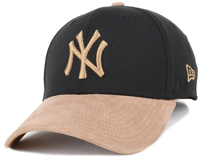NY Yankees Poly Suede Mix Black/Wheat 39Thirty Flexfit - New Era