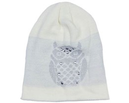 Owl Beanie White  - Sally & Circle