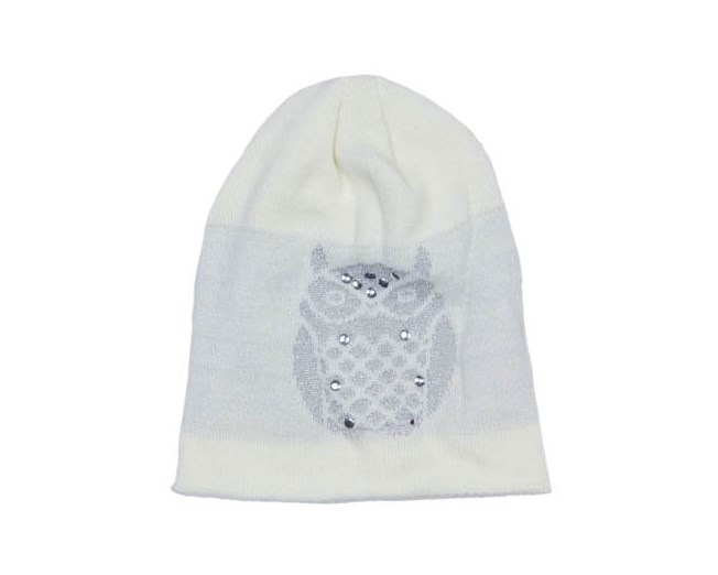 Owl Beanie White Mössa - Sally & Circle