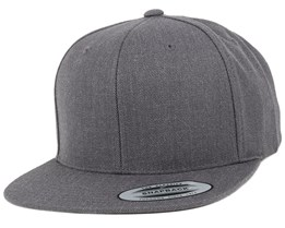 Dark Heather Grey Snapback - Yupoong