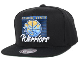 Golden State Warriors Easy Three Digital Black Snapback - Mitchell & Ness