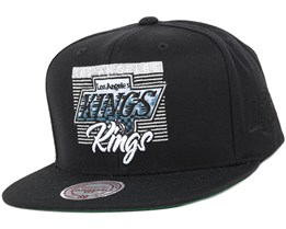 LA Kings Easy Three Digital Black Snapback - Mitchell & Ness