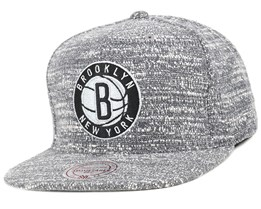Brooklyn Nets Grey Noise Snapback - Mitchell & Ness