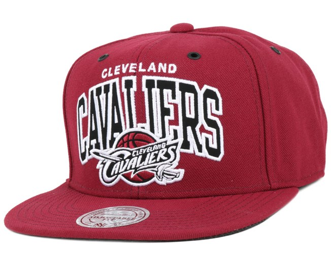 Cleveland Cavaliers Black And White Arch Snapback - Mitchell & Ness