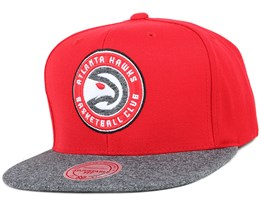 Atlanta Hawks Red Melange Fill Snapback - Mitchell & Ness