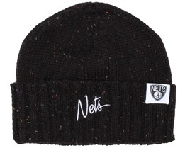 Brooklyn Nets TC Heather Script Beanie - Mitchell & Ness