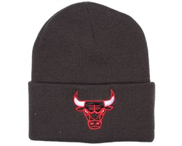 Chicago Bulls Charcoal Logo Beanie - Mitchell & Ness